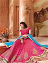 image of Pink Color Designer Festive Wear Silk Lehenga Choli With Unstitched Blouse