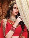 photo of Wedding Wear Red Color Embroidered Art Silk Lehenga Choli With Designer Unstitched Blouse