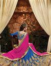 photo of Blue Color Festive Wear Designer Art Silk Lehenga Choli With Beautiful Embroidery Work