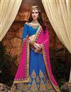 image of Blue Color Festive Wear Designer Art Silk Lehenga Choli With Beautiful Embroidery Work
