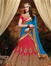 image of Red Color Wedding Wear Designer Art Silk 3 Piece Lehenga Choli With Attractive Embroidery Work