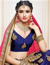 photo of Art Silk Fabric Creative Navy Blue Color Designer Embroidered Lehenga Choli