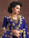 photo of Blue Color Festive Wear Designer Art Silk Embroidered Lehenga Choli