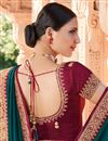 photo of Art Silk Fabric Fancy Function Wear Teal Color Border Work Saree