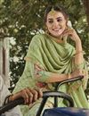 photo of Occasion Wear Sea Green Color Embroidered Palazzo Salwar Kameez