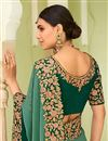 photo of Art Silk Party Wear Saree In Green With Embroidery Work