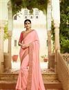 image of Embroidered Pink Wedding Wear Art Silk Saree With Designer Blouse