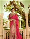 image of Festive Special Art Silk Party Wear Saree In Pink With Embroidery Work And Beautiful Blouse