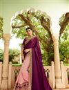 image of Dark Magenta Art Silk Festive Wear Saree With Embroidery Work