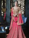 image of Georgette Pink Fancy Embroidered Lehenga Choli