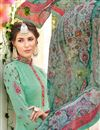 photo of Sea Green Georgette Casual Wear Straight Cut Suit With Embroidery