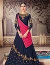 image of Designer Embroidered Floor Length Fancy Anarkali Suit In Georgette