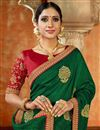 photo of Designer Green Color Occasion Wear Saree In Art Silk Fabric