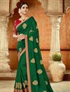 image of Designer Green Color Occasion Wear Saree In Art Silk Fabric