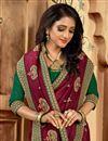 photo of Maroon Color Art Silk Fabric Party Wear Designer Saree