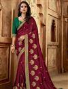 image of Maroon Color Art Silk Fabric Party Wear Designer Saree