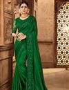 image of Art Silk Fabric Sangeet Wear Green Color Embroidered Saree