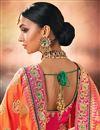 picture of Function Wear Cyan Jacquard Silk Designer Embroidered Border Work Saree