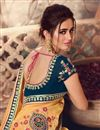 photo of Yellow Color Designer Saree In Art Silk Fabric