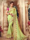 image of Light Green Color Art Silk Fabric Festive Wear Saree