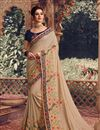 image of Chikoo Color Traditional Saree In Art Silk Fabric