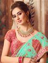 photo of Art Silk Fabric Light Teal Color Designer Saree