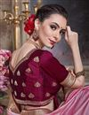 photo of Art Silk Festive Wear Border Work Pink Saree With Embroidered Blouse