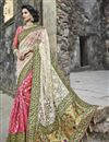 image of Embroidery Work On Art Silk And Net Fabric Party Wear Saree In Pink