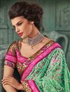 photo of Lavender Net Fabric Designer Saree With Embroidery Work