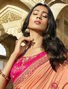 photo of Art Silk Fancy Function Wear Peach Embroidered designer Saree