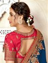 photo of Blue Color Art Silk Fabric Embroidered Function Wear Stylish Saree