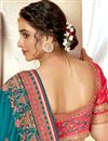 photo of Cyan Color Art Silk Fabric Stylish Embroidered Function Wear Saree