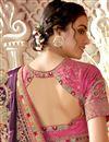 photo of Art Silk Fabric Purple Color Fancy Embroidered Festive Wear Saree