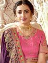 picture of Art Silk Fabric Purple Color Fancy Embroidered Festive Wear Saree