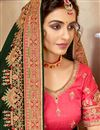 picture of Dark Green Color Art Silk Embroidered Reception Wear Saree