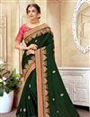image of Dark Green Color Art Silk Embroidered Reception Wear Saree