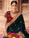 photo of Art Silk Wedding Wear Dark Grey Embellished Designer Saree