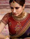 photo of Purple Designer Art Silk Fancy Wedding Wear Saree With Work
