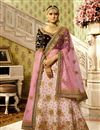 image of Satin Fabric Function Wear Pink Designer Lehenga With Fancy Embroidery Work