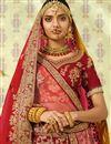 picture of Maroon Designer Wedding Wear Satin Fabric Lehenga Choli With Heavy Work