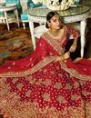 picture of Wedding Wear Satin Maroon Designer Lehenga With Heavy Work