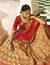 photo of Sangeet Wear Beige Fancy Lehenga In Satin Fabric With Heavy Embrodiery Work