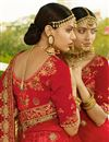 picture of Sangeet Wear Beige Fancy Lehenga In Satin Fabric With Heavy Embrodiery Work