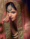 photo of Embroidered Sea Green Bridal Lehenga In Fancy Fabric With Designer Choli