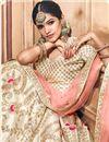 photo of Beige Fancy Fabric  Bridal Wear Designer Lehenga Choli