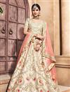 image of Beige Fancy Fabric  Bridal Wear Designer Lehenga Choli