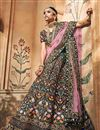 image of Navy Blue Designer Bridal Lehenga With Embroidery Work On Fancy Fabric