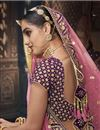 photo of Embroidered Wedding Wear Lehenga Choli In Velvet Fabric Purple