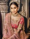 photo of Peach Party Wear Lehenga Choli In Art Silk Fabric With Embroidery Work