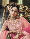 photo of Function Wear Designer Embroidered Pink Lehenga Choli In Satin Silk